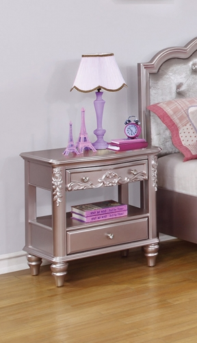 Coaster Caroline Nightstand - Metallic Lilac