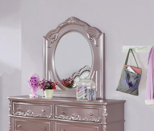 Caroline Mirror - Metallic Lilac