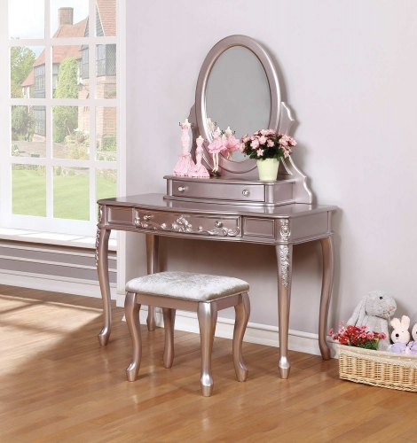 Coaster Caroline Vanity Desk Set - Metallic Lilac