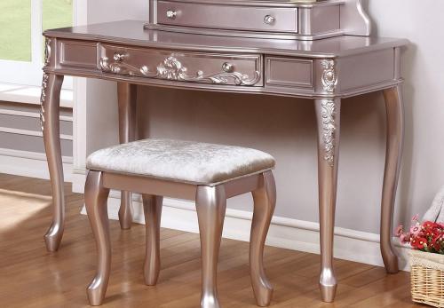 Caroline Vanity Desk - Metallic Lilac