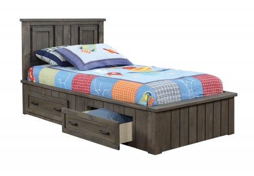Napoleon Youth Captains Platform Storage Bed - Gunsmoke