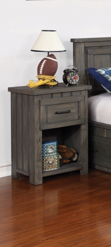 Napoleon Youth Nightstand with USB Power - Gunsmoke