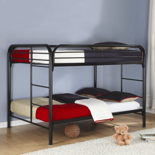 460056K Full-Full Bunk Bed - Black