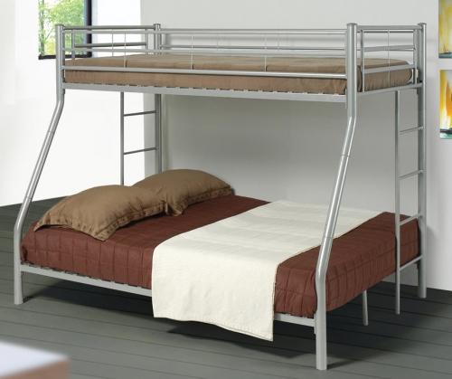 Denley Silver Twin-Full Bunk Bed