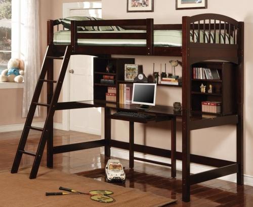 460063 Work Station Bunk Bed