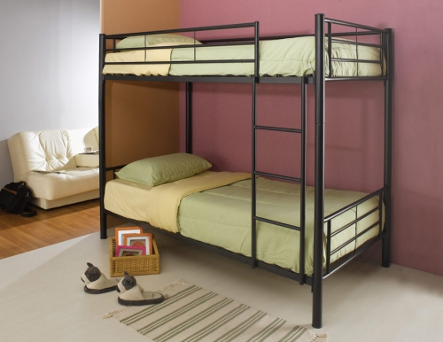 Denley Black Twin - Twin Bunk Bed