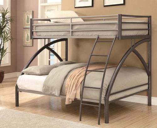 460079 Full Bunk Bed - Gunmetal/Sliver
