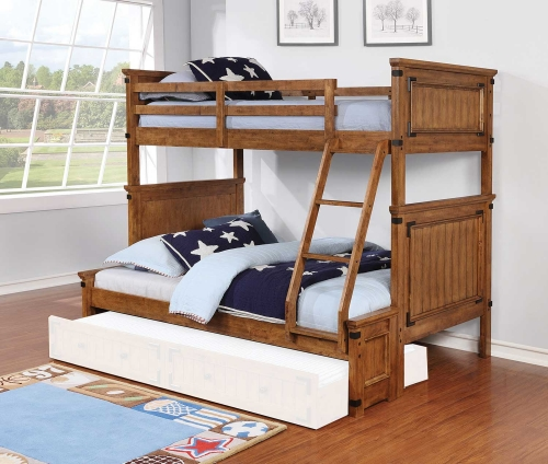 Coronado Twin/Full Size Bunk Bed - Rustic Honey