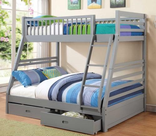 460182 Twin-Full Bunk Bed - Grey
