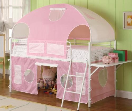 460202 Sweatheart Tent Loft Bed - White