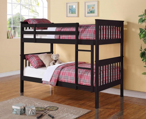 Chapman Twin/Twin Size Bunk Bed - Black