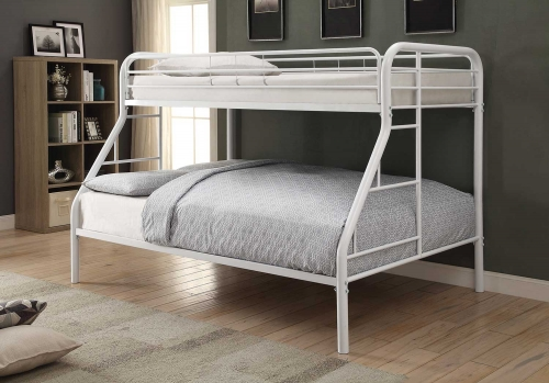 Morgan Twin/Full Size Bunk Bed - White