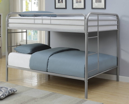 Morgan Full/Full Size Bunk Bed - Silver