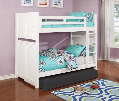 Edith Twin/Twin Size Bunk Bed - White
