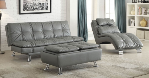 Dilleston Sofa Set - Grey