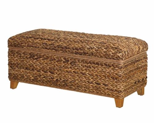 Coaster Laughton Storage Bench - Natural/Cocoa Brown