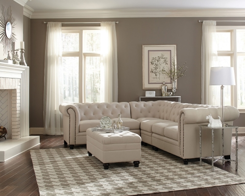 500222 Sectional Sofa Set - Oatmeal