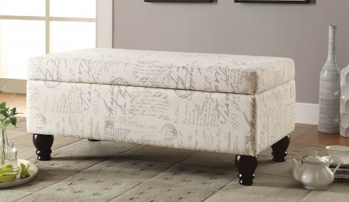 500986 Storage Bench - Off White/Grey