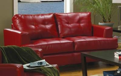 Samuel Love Seat - Red