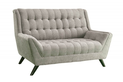 Natalia Love Seat - Dove Grey