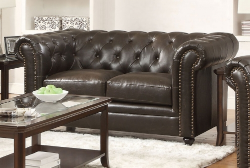 Roy Love Seat - Brown