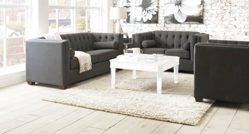Cairns Sofa Set - Charcoal/Brown