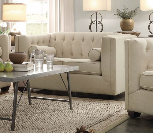 Coaster Cairns Love Seat - Oatmeal