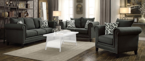 Emerson Sofa Set - Charcoal