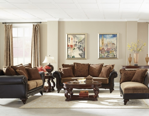 Garroway Sofa Set - Russet/Chocolate