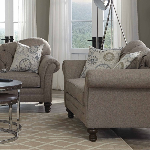 Carnahan Love Seat - Stone Grey
