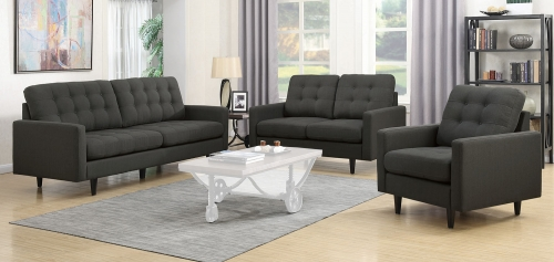 Kesson Sofa Set - Charcoal