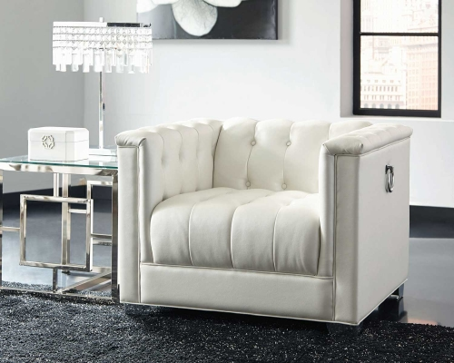 Coaster Chaviano Chair - Pearl White