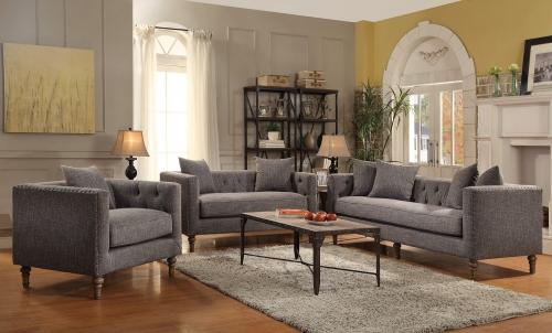 Ellery Sofa Set - Grey