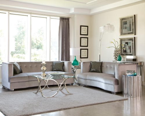Caldwell Sofa Set - Silver