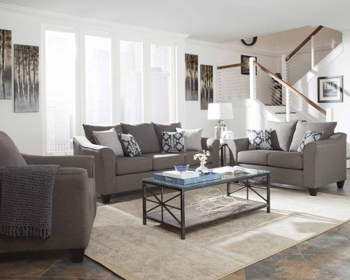 Salizar Sofa Set - Grey