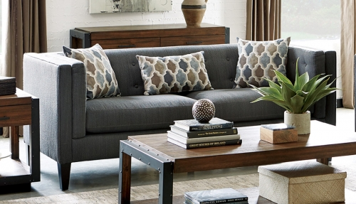 Sawyer Sofa - Dusty Blue
