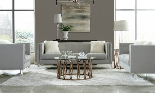 Hemet Sofa Set - Light Grey