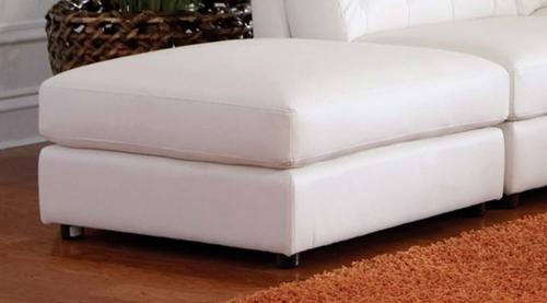 Quinn Storage Ottoman - White