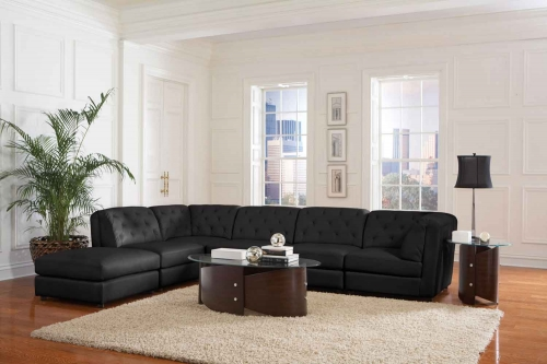 Quinn Living Room Set - Black