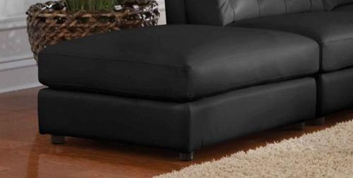 Quinn Storage Ottoman - Black