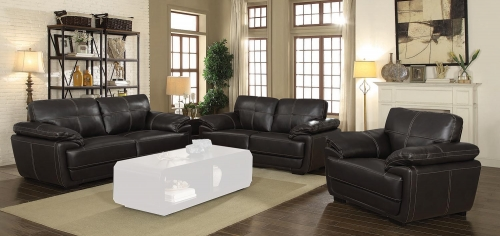 Zenon Sofa Set - Brown