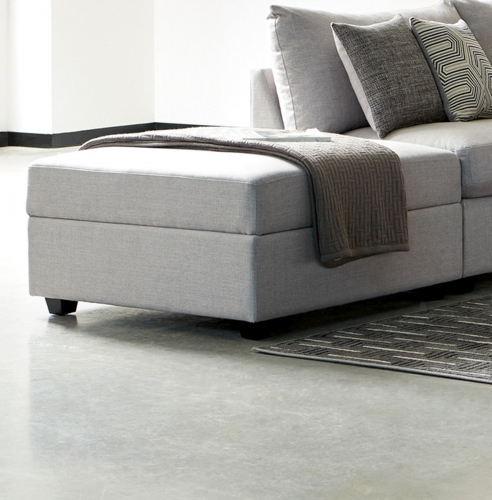 Charlotte Storage Ottoman - Grey