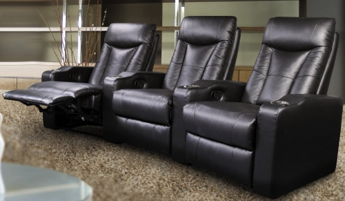 Pavillion Home Theater Seating Set - Black