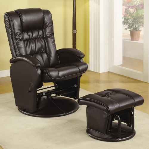 600164 Glider and Ottoman - Brown