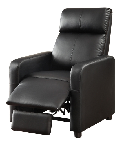 Toohey Home Theater Push-Back Recliner - Black