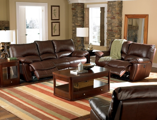 Clifford Power Reclining Sofa Set - Dark Brown
