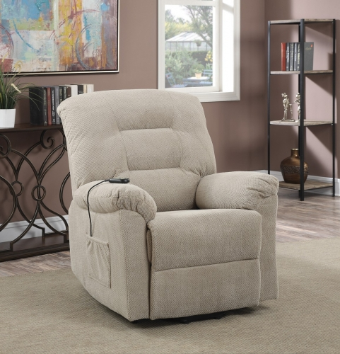 600399 Power Lift Recliner - Taupe