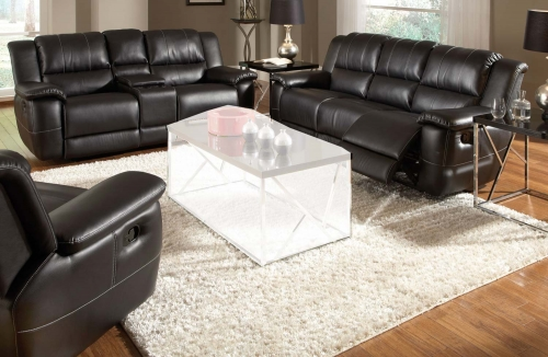 Lee Reclining Sofa Set - Black