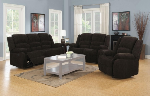 Gordon Motion Sofa Set - Dark Brown
