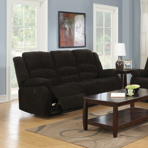Gordon Reclining Sofa - Dark Brown